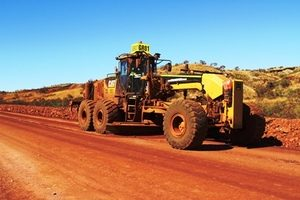 Grader at Solomon Road Maintenance